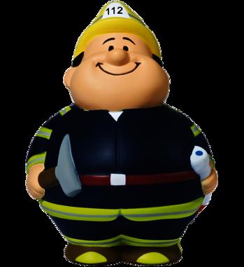 Squeezie Mein-Bert als Feuerwehrmann